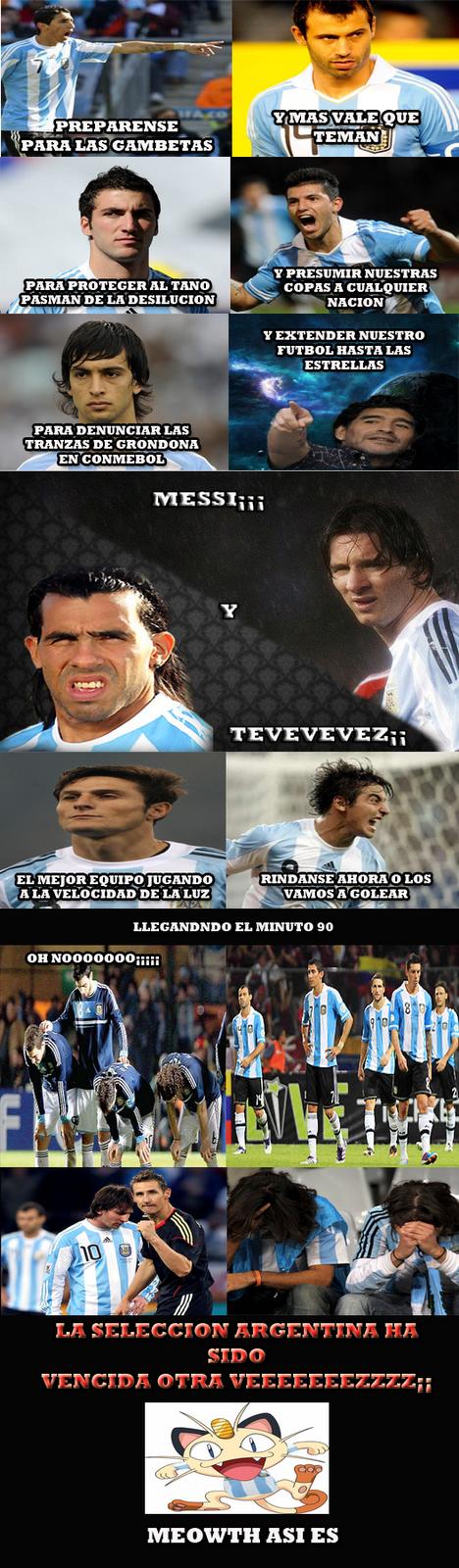 Cuando Argentina saco a mexico del mundial 2010
