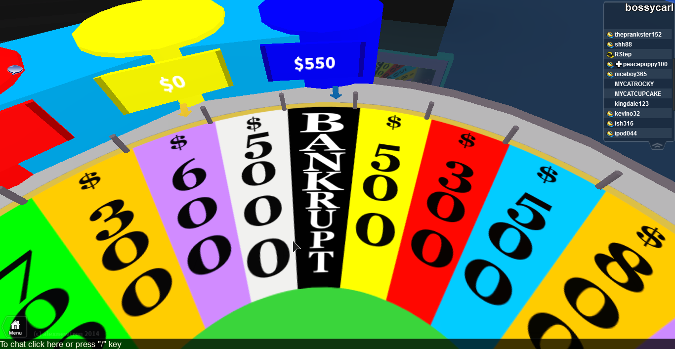 how to find wheel of fortune answers on roblox