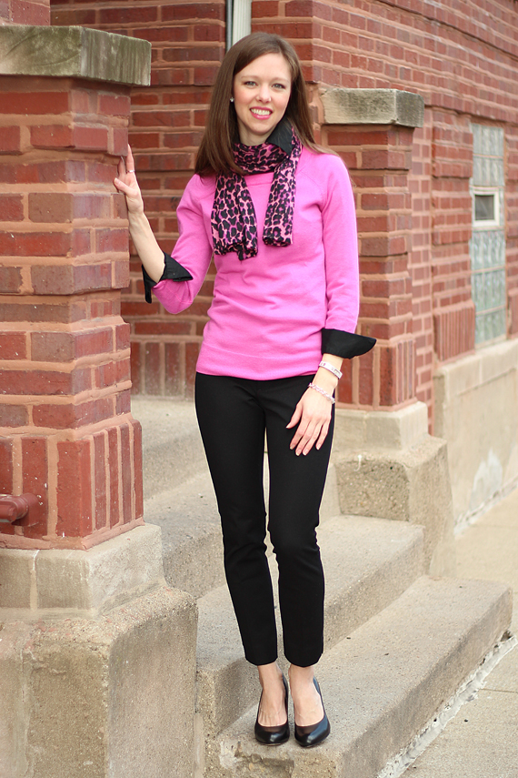 StyleSidebar - black cuffs and collar, hot pink and leopard