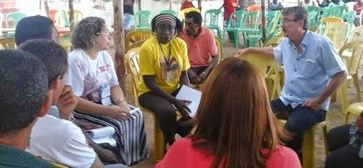 O prefeito de Brejo, Omar Furtado, acompanhado de uma comitiva, participou no sábado (17) do último dia do 1º Congresso Regional de Comunidades Quilombolas do Baixo Parnaíba. Foto: Blogue de William Fernandes / TV Mirante