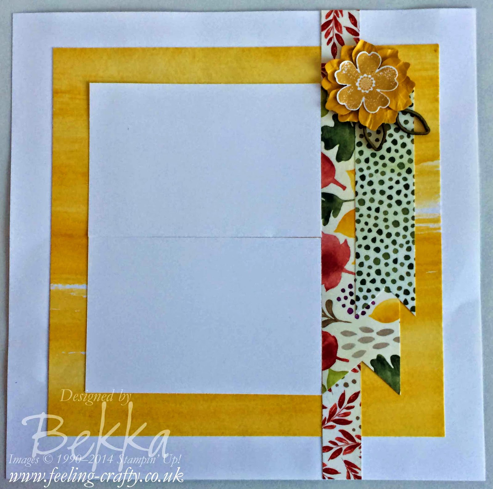 Floral Scrapbook Page using the Color Me Autumn Papers by Stampin' Up! UK