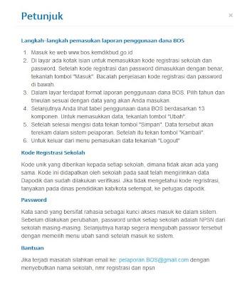 Langkah-langkah pemasukan laporan penggunaan dana BOS