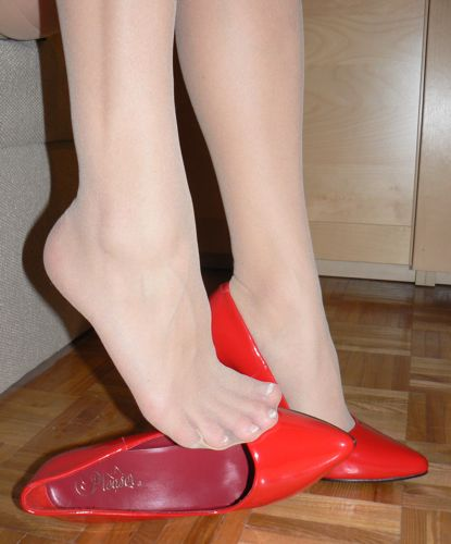 Red High Heels and toes