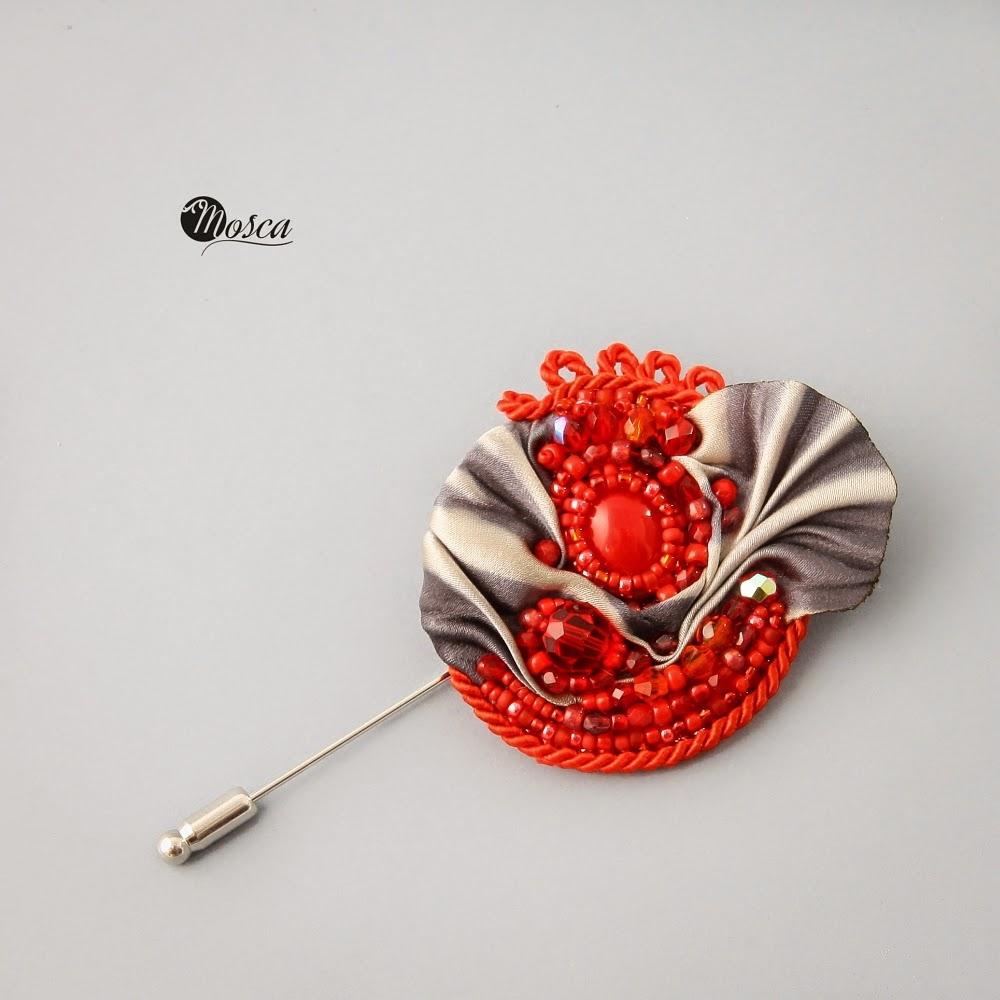 broszka shibori