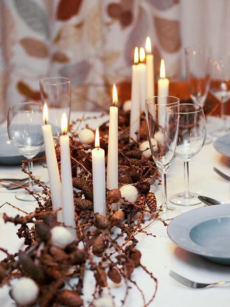 deco mesa navidad ramas