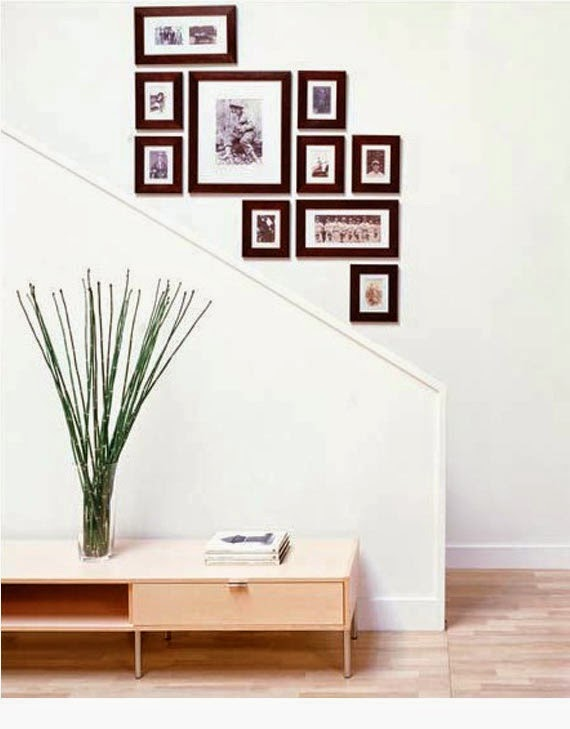50 creative staircase wall decorating ideas art frames stairs designs - Picture frame wall decor ideas ...