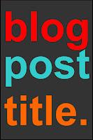 blog post title