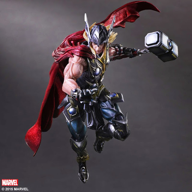 Play Arts Kai Variant Thor mjolnir figure