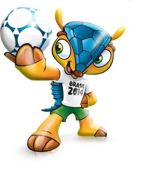 Tatu-Bola é o mascote da Copa
