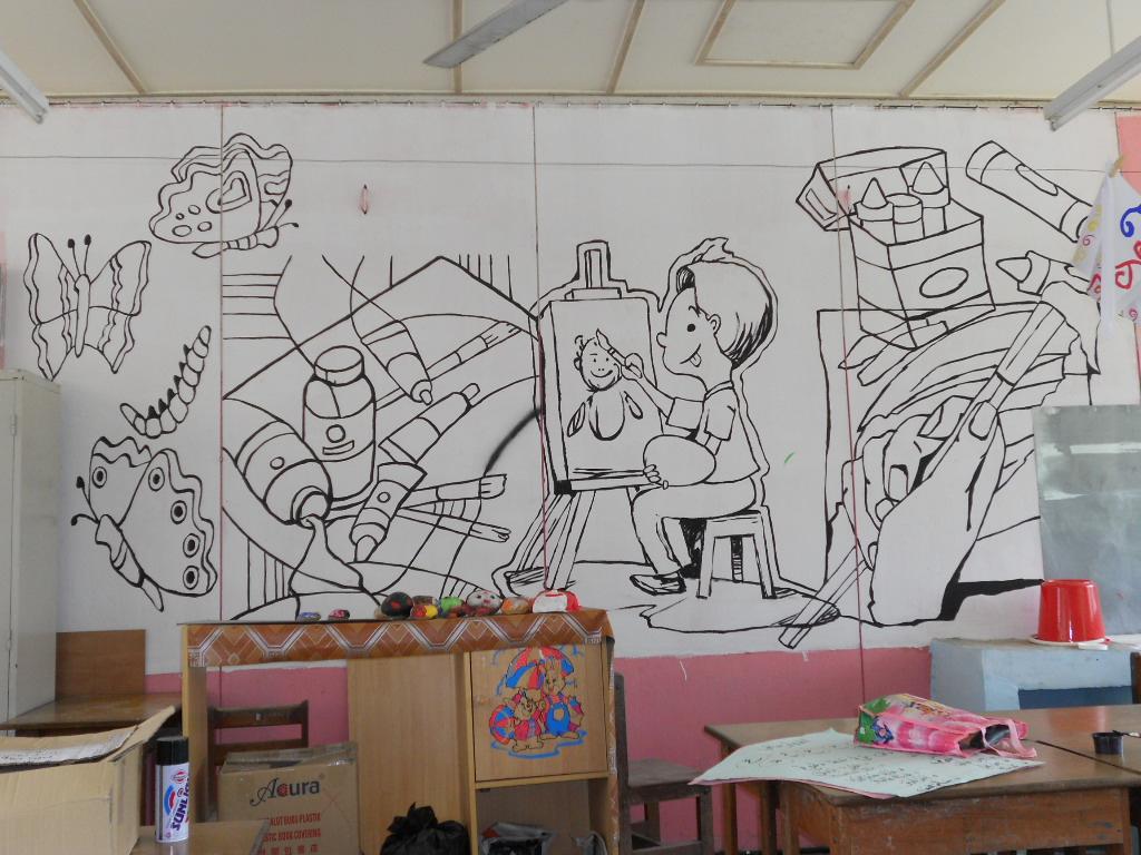 Pendidikan seni visual mural sekolah 2 for Mural sekolah