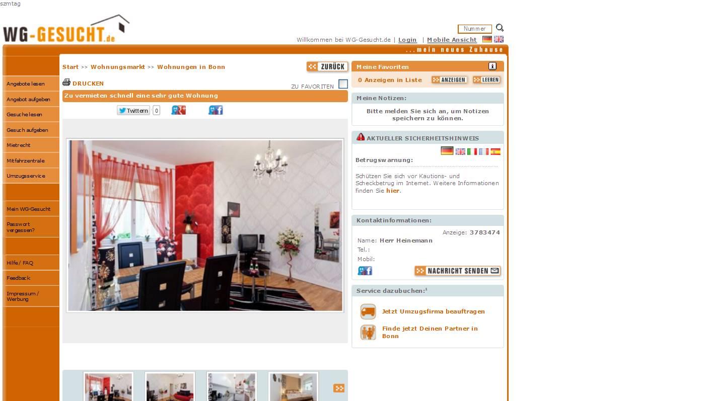 alias herr heinemann gegen wohnungsbetrug against rental scammers. Black Bedroom Furniture Sets. Home Design Ideas
