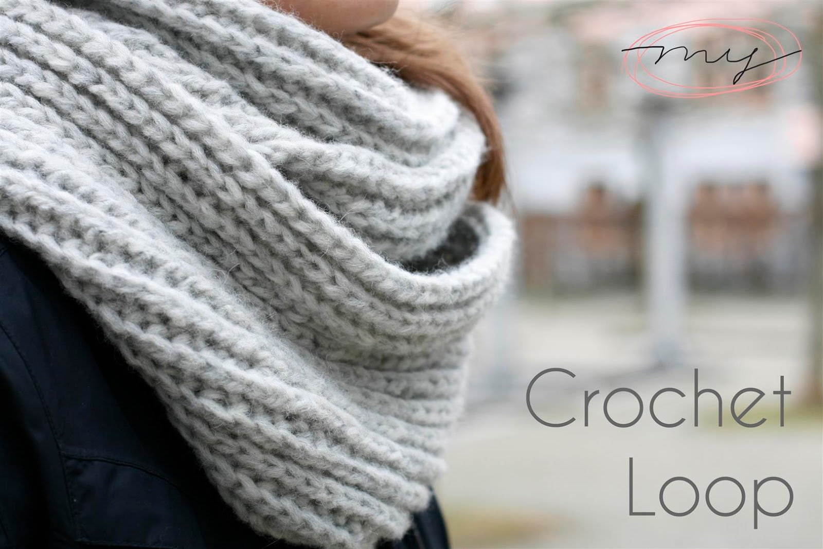 nein gehkelt easy loop schal simple infinity scarf crochet diy neu mit video tutorial - Schal Hakeln Muster