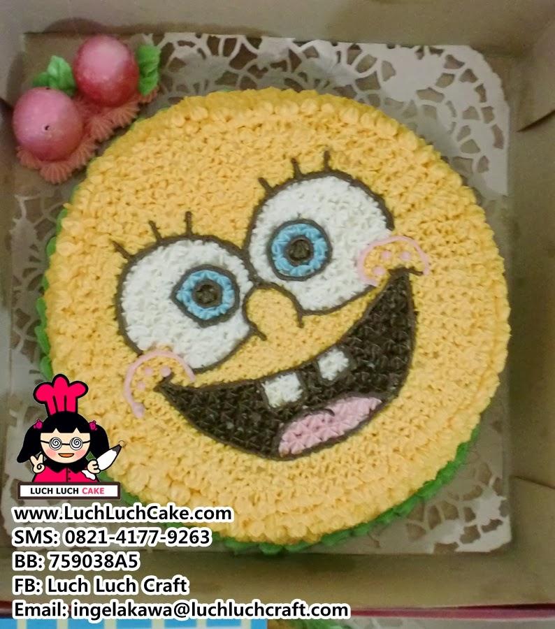 Kue Tart Spongebob Lucu Daerah Surabaya dan Sidoarjo