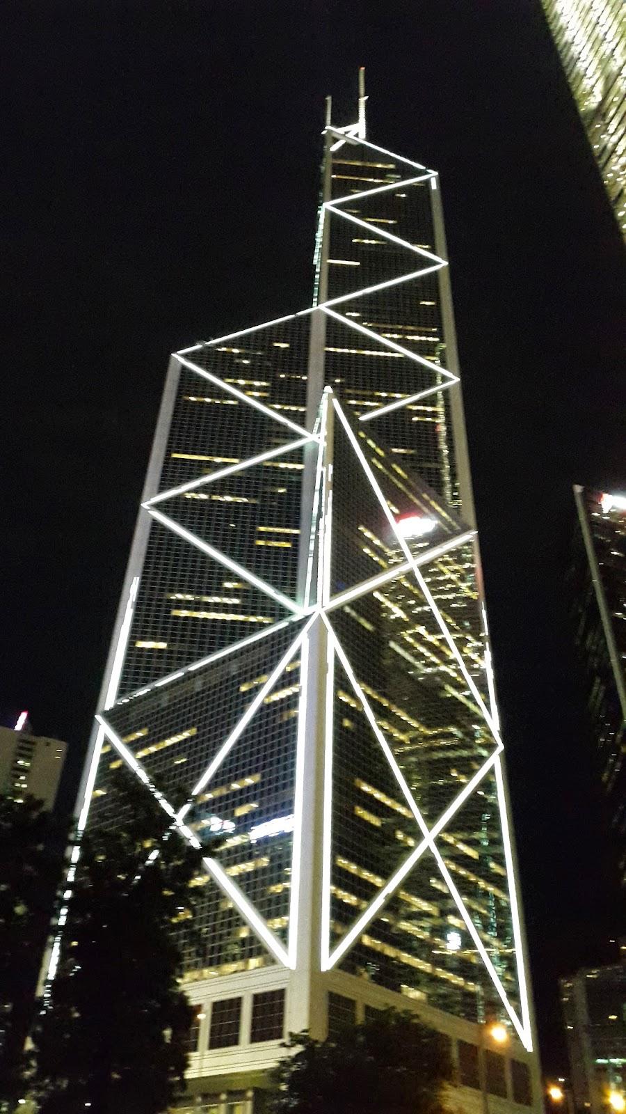 Central Hong Kong Building at Night