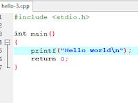 Cara Membuat Hello Word Dari Bahasa C