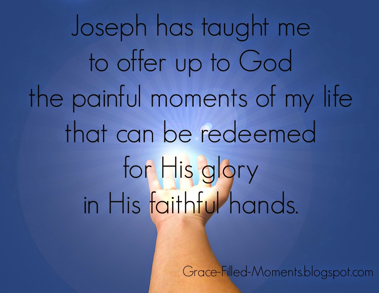 Painful Moments Redeemed in the Hands of God