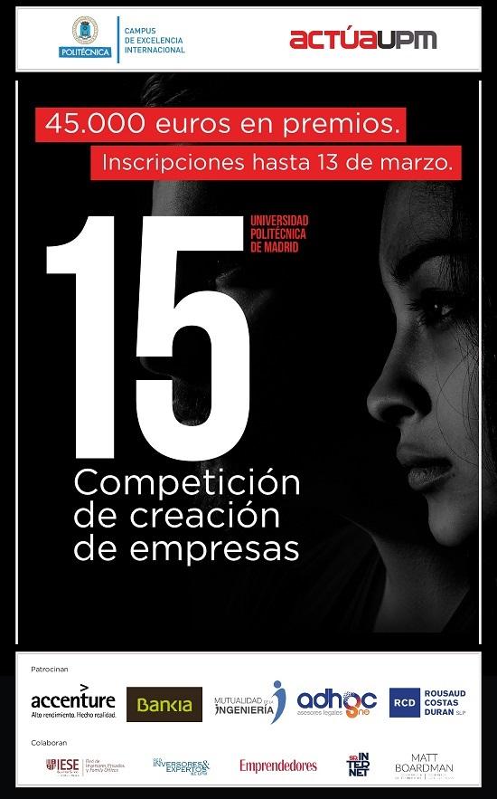 ¡Inscríbete en la 15 competición!