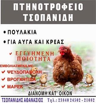 ΠΤΗΝΟΤΡΟΦΕΙΟ ΤΣΟΠΑΝΙΔΗ