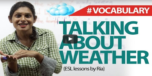 Vocabulary – How to talk about the weather in english