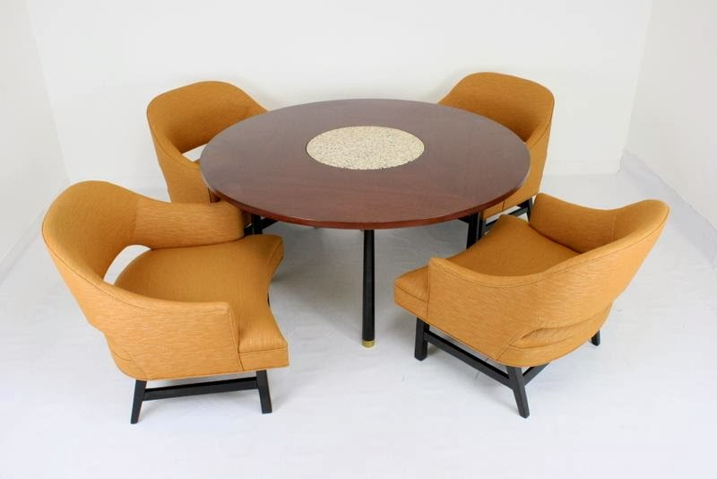 Mid2Mod: In the store: Harvey Probber game table and chairs