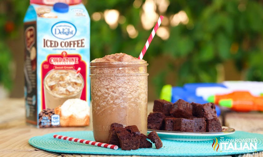 Brownie Cream Iced Coffee Shake #TSRISummer #IcedDelight