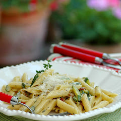 Zucchini Carbonara with Fresh Thyme