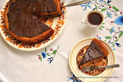 65. Sernik kawowy z czekoladą