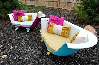 Muebles con Tinas Recicladas, Decoracion Ecoresponsable