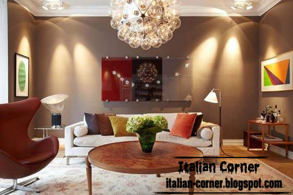 Modern Italian Living Room With Lighting Ideas, Italian Living Room Design