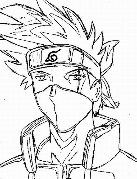 coloring pages of naruto - photo#4