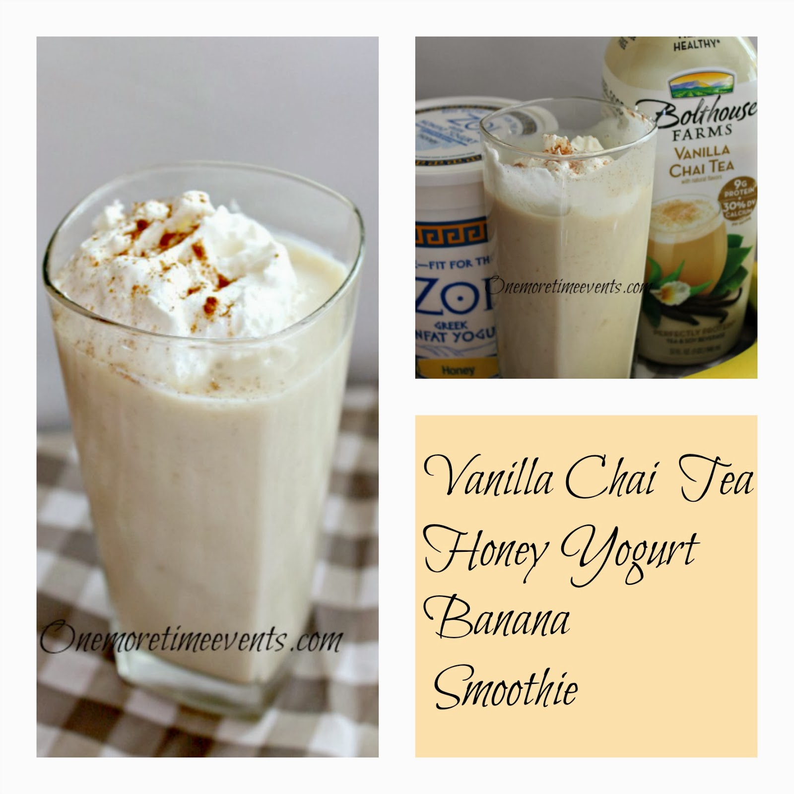Vanilla Chai Banana non fat Protein Shake at One More Time Events.com