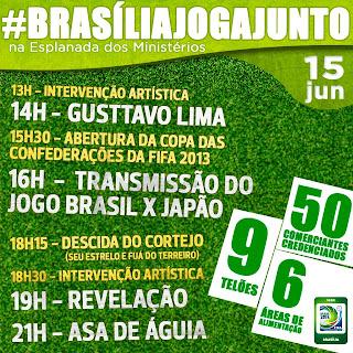 Shows na Esplanada dos Ministérios na abertura da Copa das Confederações