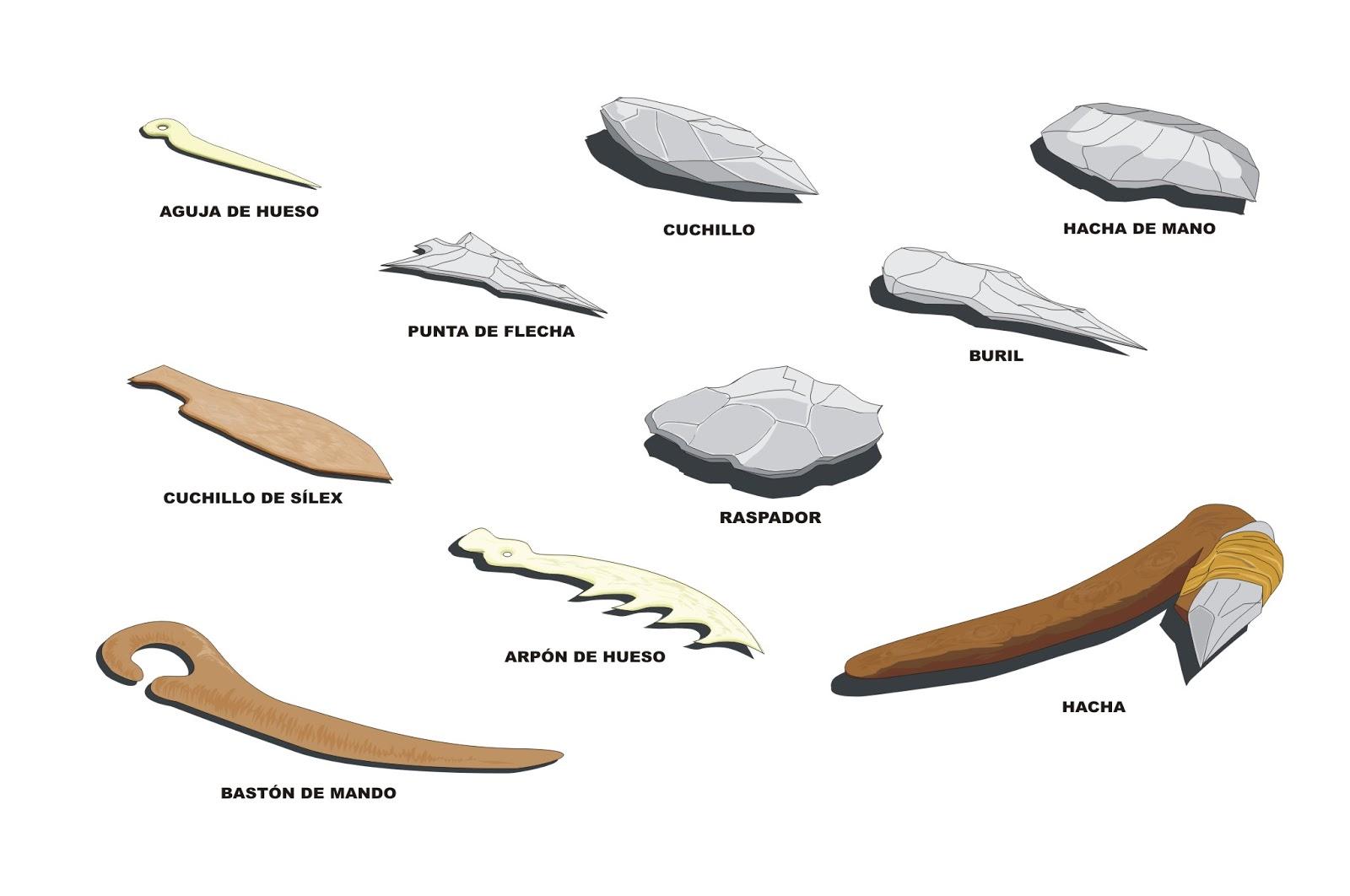 Prehistoria para ni s herramientas de piedra del - Herramientas para piedra ...