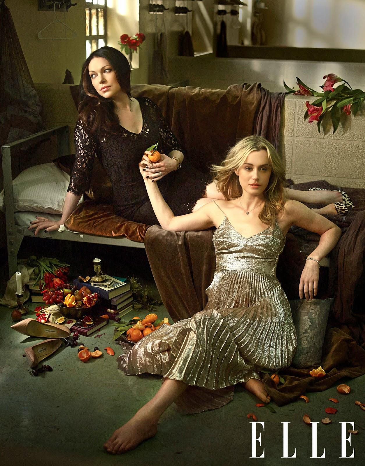 tv lover orange is the new black season 2 trailer elle photoshoot. Black Bedroom Furniture Sets. Home Design Ideas