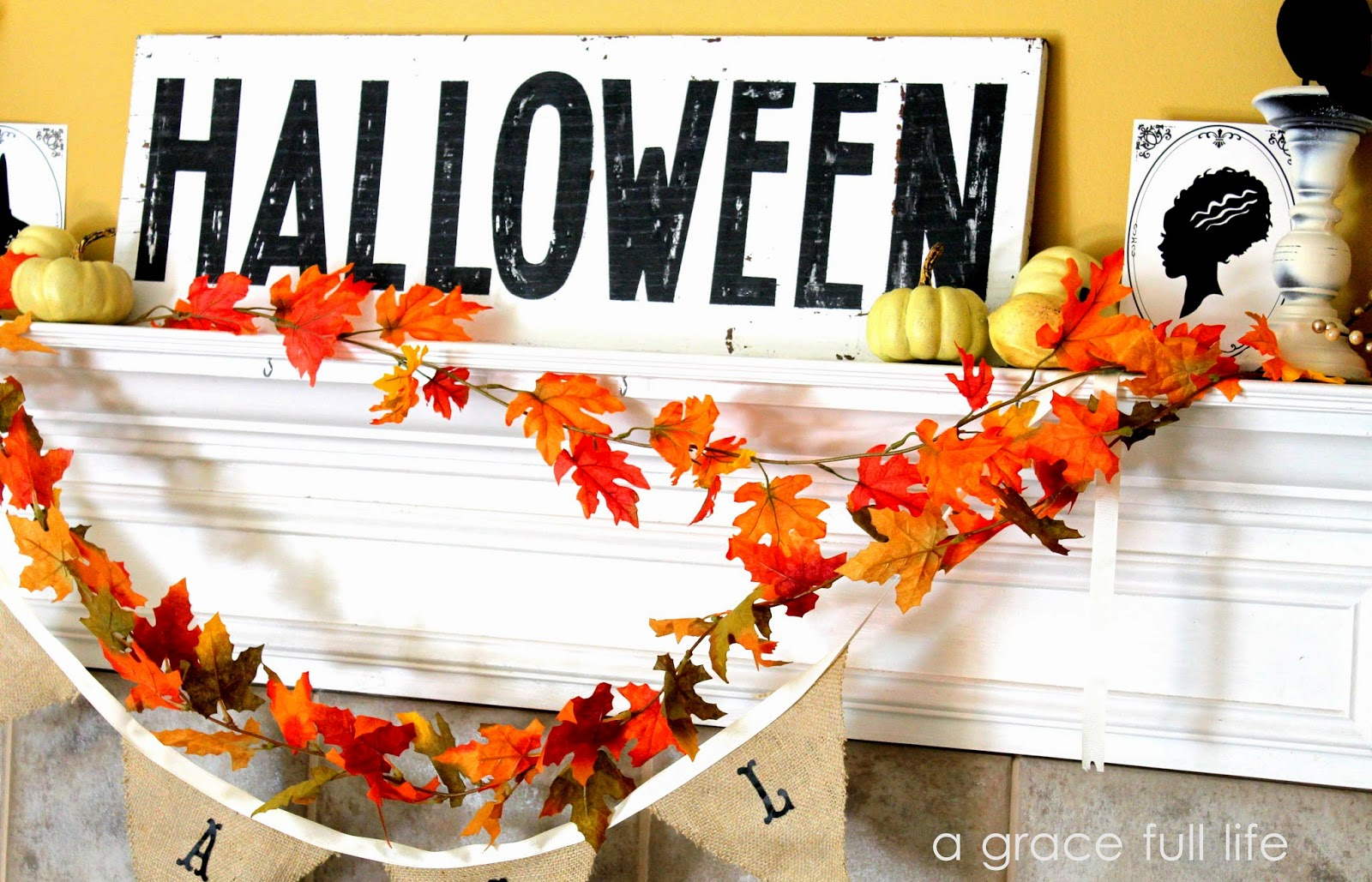 fall mantel on a budget
