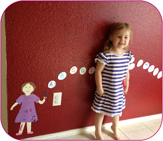 A fun bubble decoration to display ABCs