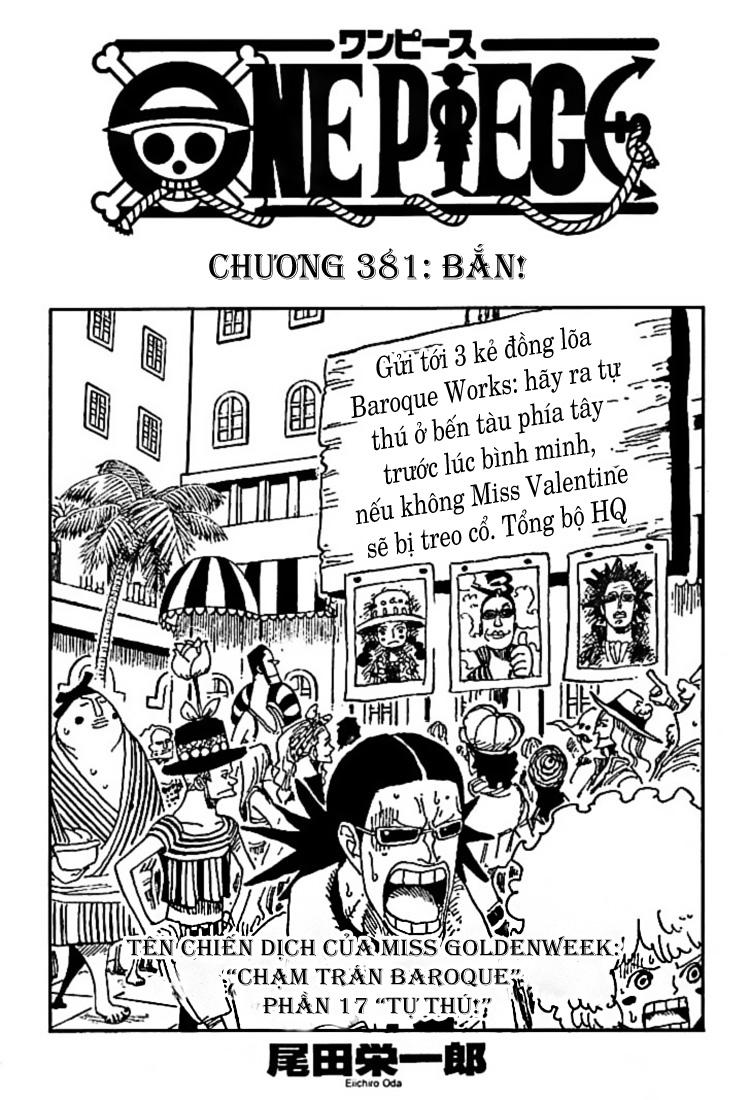 One Piece - Đảo Hải Tặc chap 381 page 1 - IZTruyenTranh.com