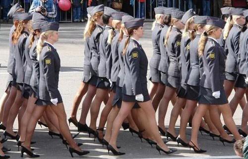 Army girls in mini skirts