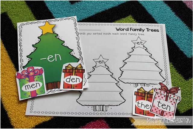 Miss Kindergarten {short e word family sort}