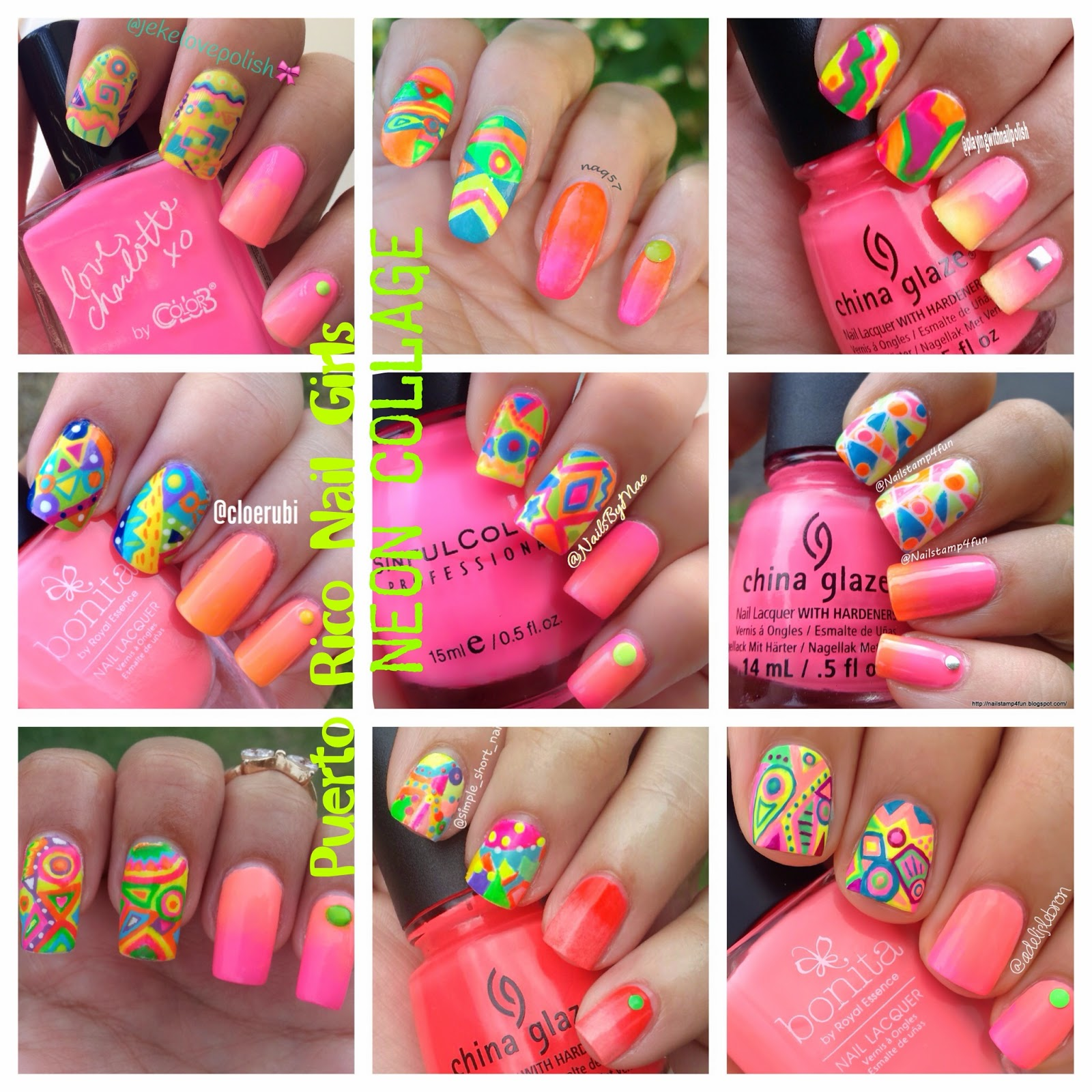 Nail Stamp 4 Fun: Neon Nails Using Pueen 36