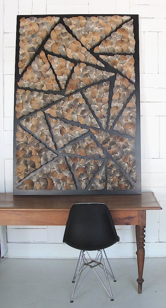Geometric panel by Keri Muller  - www.simleintrigue.com