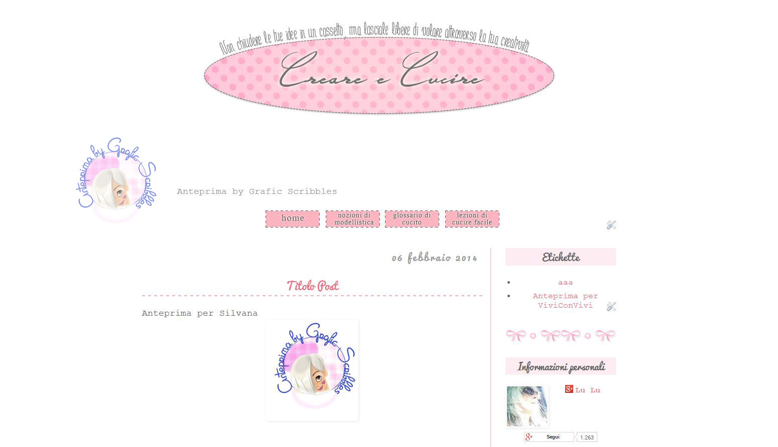 Template e grafica per Blogger