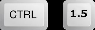 Ctrl + 1.5    = للحصول على تباعد للأسطر بمقدار 5،1 سم .