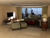 3d model interior living room london