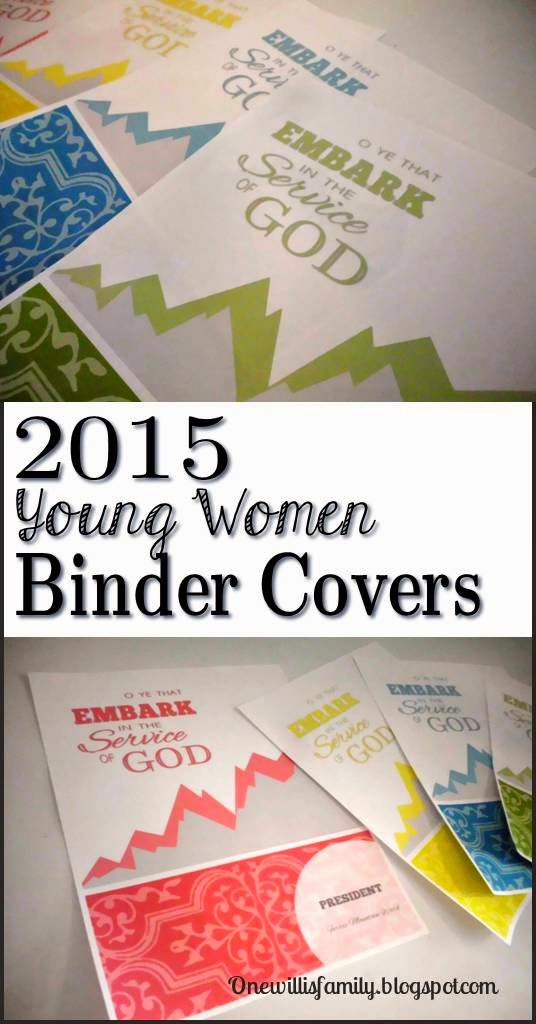 One Willis Family: 2015 Young Women Binder Covers
