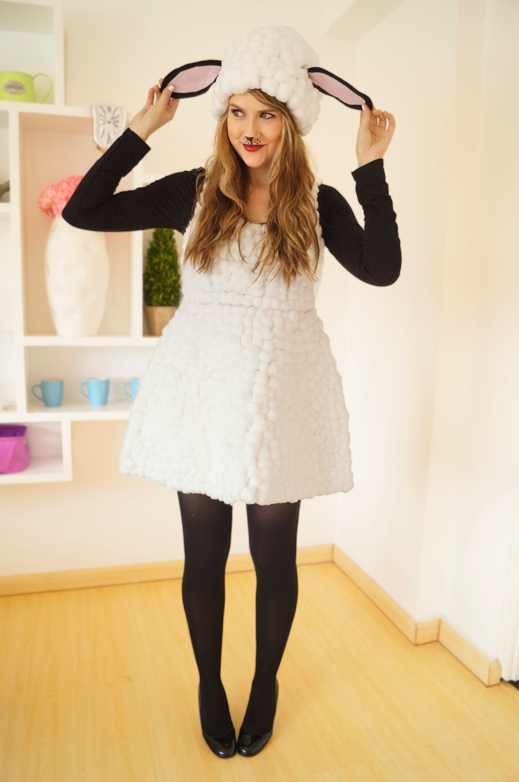 The Joy of Fashion: {Halloween}: Cute Homemade Lamb Costume