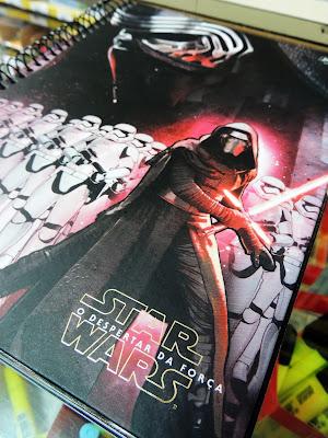 Caderno Kylo Ren da linha Star Wars da Jandaia