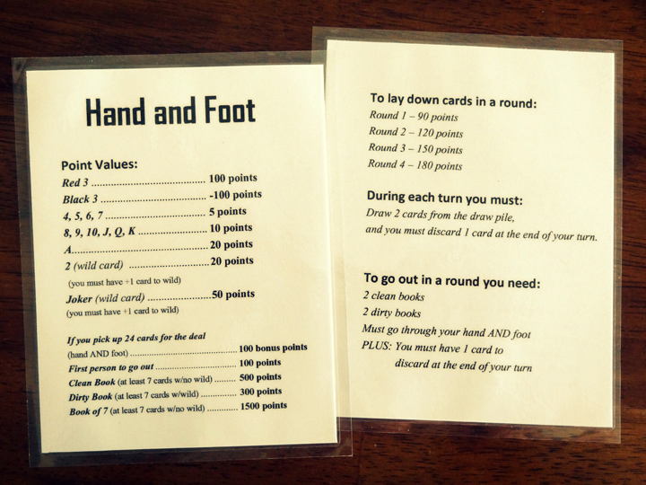 Hand Foot Card Game 21