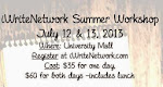 iWriteNetwork Summer Workshop