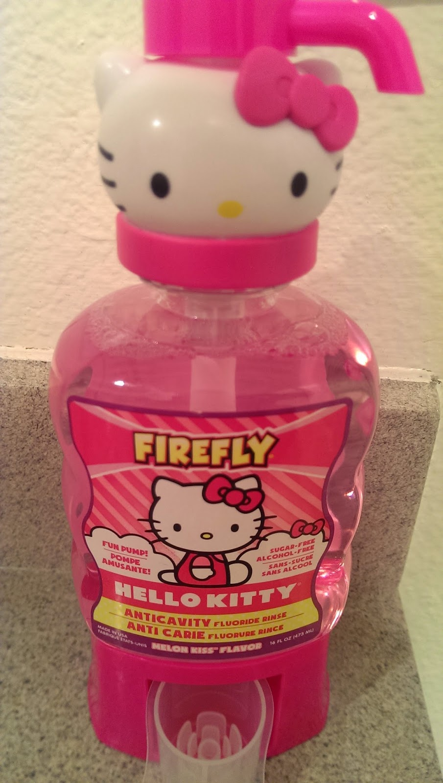 Firely%2BHello%2BKitty New Firefly  Hello Kitty Ready Go Brush Celebrates the Icon's  40th Birthday and Fights Cavities -Best Anticavity Mouthwash